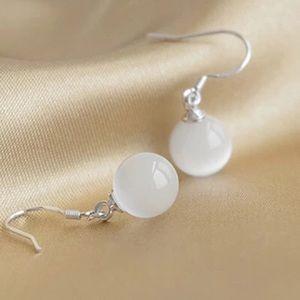 Zip crystal ball earrings
